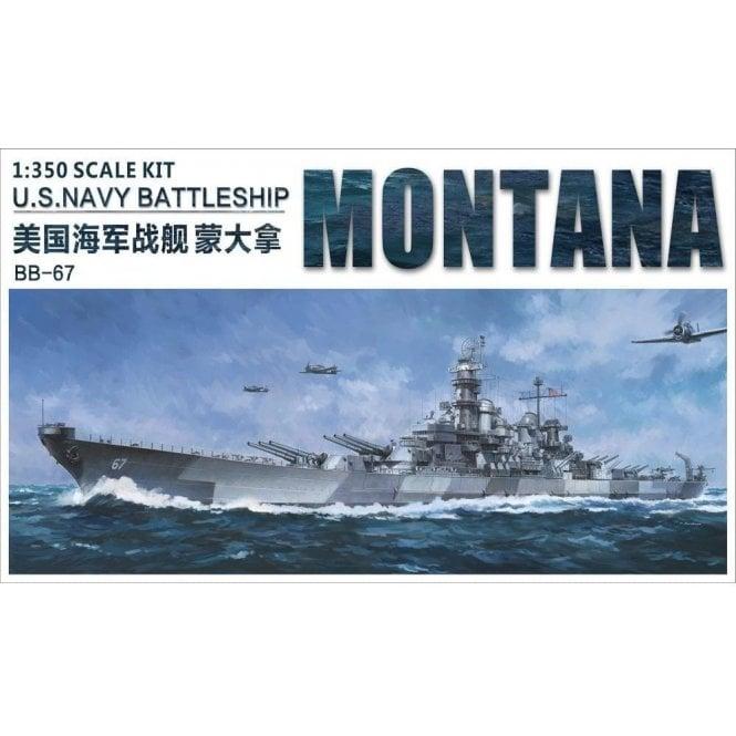 Very Fire 1:350 USS Montana US Navy BB-67 Battleship Model Ship Kit