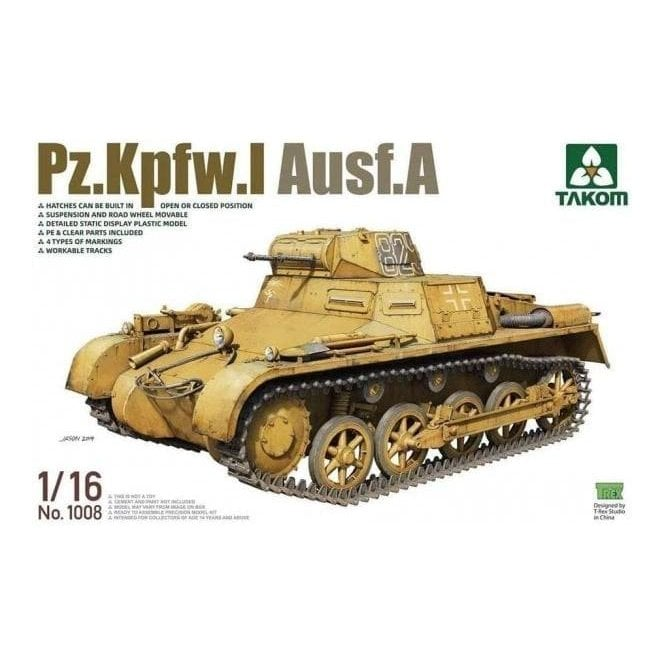 Takom 1:16 Pz.Kpfw.I Ausf.A Model Military Kit
