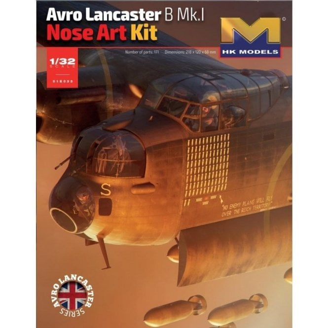 Hong Kong Models 1:32 Avro Lancaster B Mk.I Nose Art Model Kit