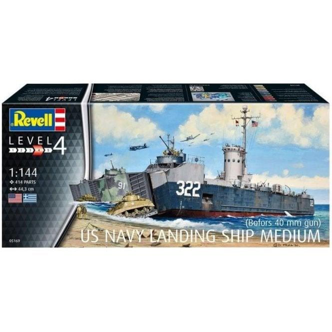 Revell 1:144 US Navy Landing Ship Medium (bofors 40mm gun) Model Ship Kit