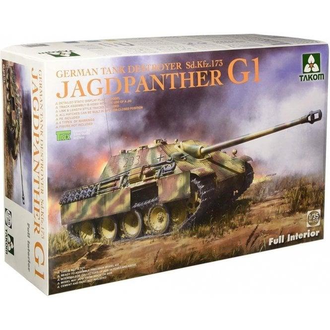 Takom 1:35 Sd.Kfz.173 Jagdpanther G1 early Prod w/ Zimmerit full Interior Model Military Kit
