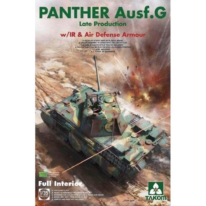 Takom 1:35 Panther G late IR & AD Armour - full Interior Model Military Kit