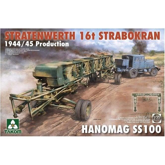 Takom 1:35 Stratenwerth 16t Strabokran 1944/45 + Hanomag Model Military Kit