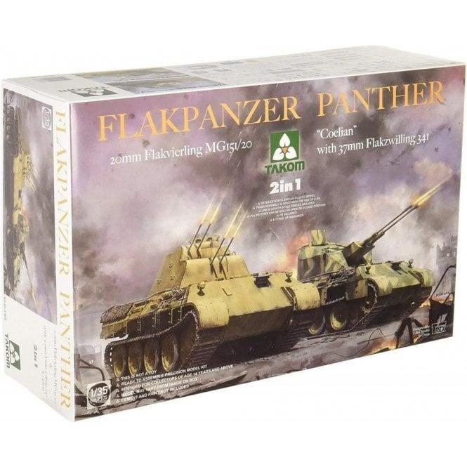 """Takom 1:35 Flakpanzer """"Coelian"""" oder 20mm Flakvierling 2 in 1 Model Military Kit"""