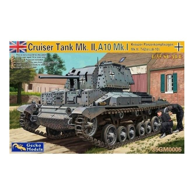 Gecko Models 1:35 Kreuzer Panzerkampfwagen Mk. II, 742(e), (A-10) Military Model Kit