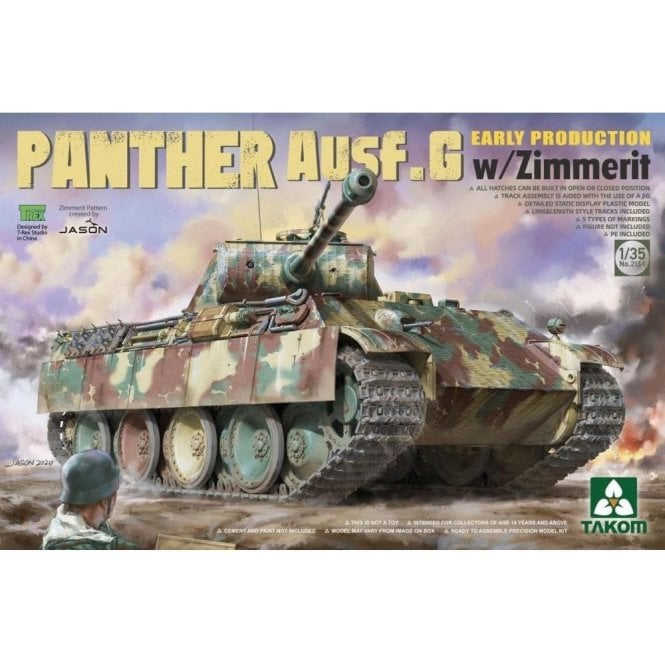 Takom 1:35 Panther Ausf.G Early Production w / Zimmerit Model Military Kit