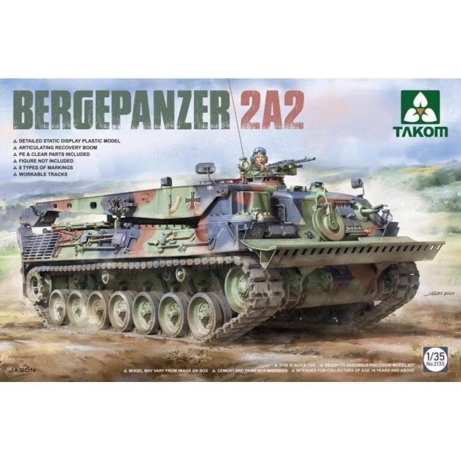 Takom 1:35 Bergpanzer 2A2 / LS Armored Recovery Vehicle  Model Military Kit