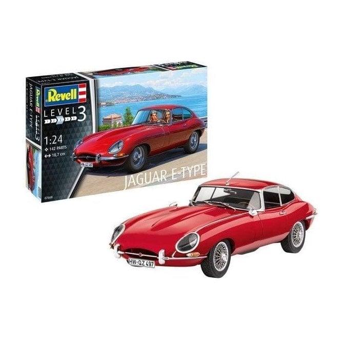 Revell 1:24 Jaguar E-Type Coupe Car Model Kit