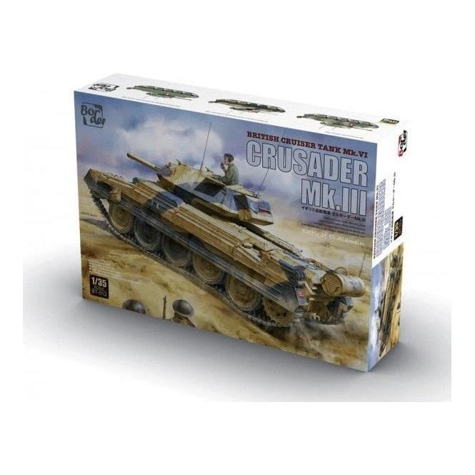 1:35 Crusader Mk.III - British Cruiser Tank Mk. VI Military Model Kit