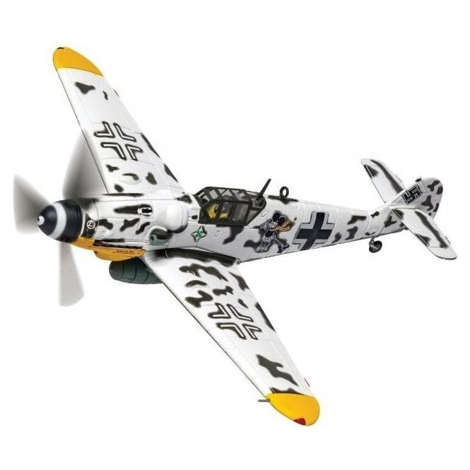 Corgi 1:72 Messerschmitt Bf 109G-6 'Operation Barbarossa' Black Double Chevron 'Mickey Mouse', Hptm. Horst Carganico, CO II./JG 5, Pskow South Airfield, Soviet Union, Early 1944