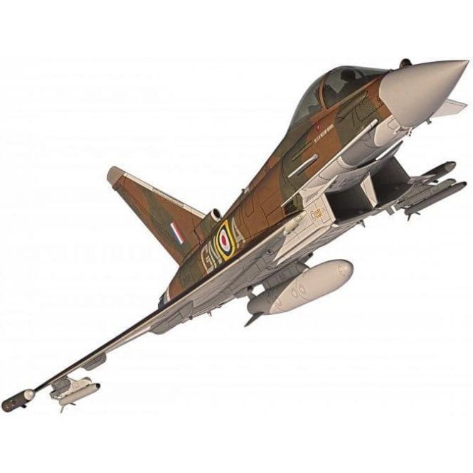 Corgi 1:48 Eurofighter Typhoon FGR4, ZK349 GN-A, Flt. Lt. Ben Westoby-Brooks, RAF No.29(R) Squadron, Battle of Britain 75th Anniversary commemorative scheme