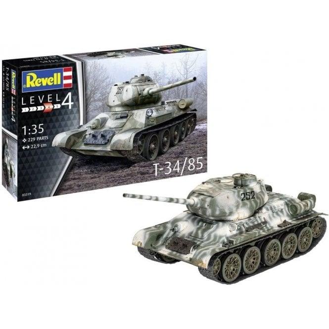 Revell 1:35 T34/85 Tank Military Model Kit