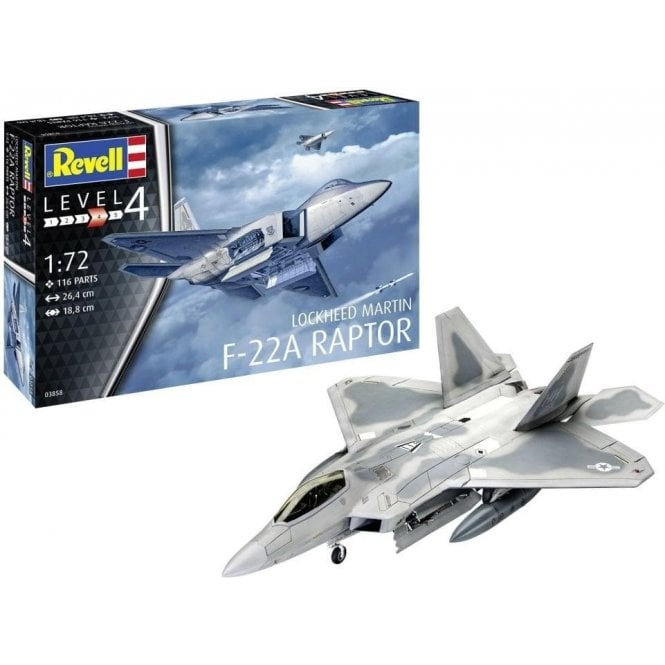 Revell 1:72 Lockheed Martin F-22A Raptor Aircraft Model Kit