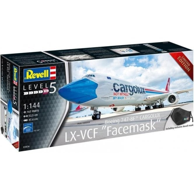 "Revell 1:144 Boeing 747-8F™ Cargolux ""Facemask"" Aircraft Model Kit"
