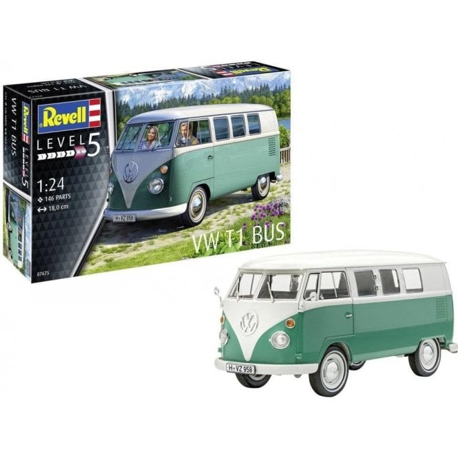 Revell 1:24 Volkswagen T1 Bus (NEW PARTS) Car Model Kit