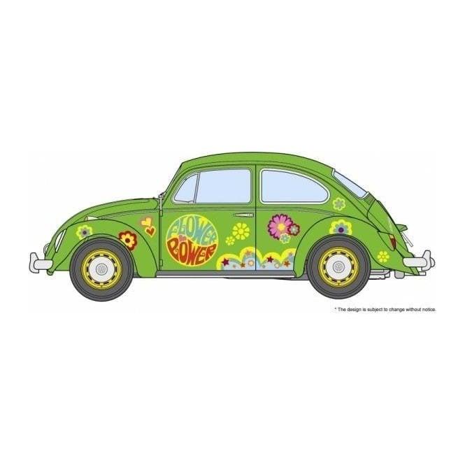 Hasegawa 1:24 Volkswagen Beetle Type 1 Flower Power Car Model Kit