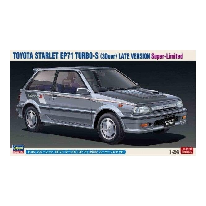 Hasegawa 1:24 Toyota Starlet EP71 Turbo-S (3Door) Late Version   Car Model Kit