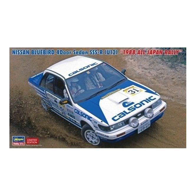 Hasegawa 1:24 Nissan Bluebird 4Door Sedan SSS-R (U12) 1988 All Japan Rally Car Model Kit