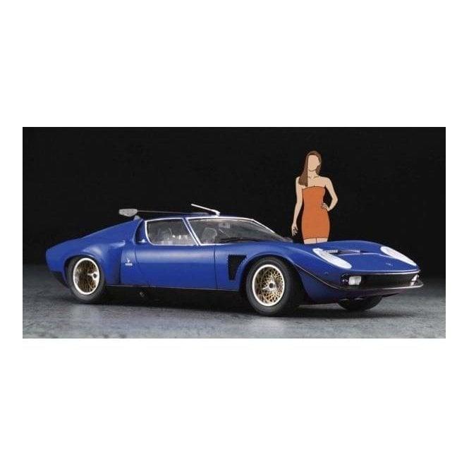 Hasegawa 1:24 Lamborghini Jota SVR With Italian Girl Figure Car Model Kit