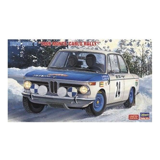 Hasegawa 1:24 BMW 2002 ti 1969 Monte-Carlo Rally Car Model Kit