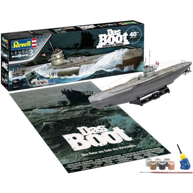 "Revell 1:144 Gift Set ""Das Boot"" Movie 40th Anniversary Model Kit"