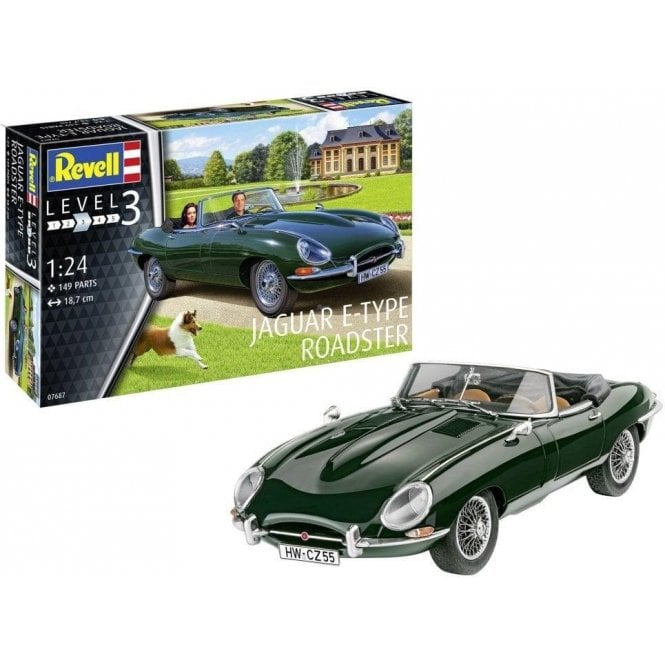 1:24 Jaguar E-Type Roadster (NEW PARTS) Car Model Kit