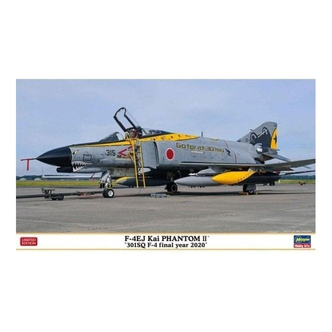 Hasegawa 1:72 F-4EJ Kai Phantom II '301-Sqd F-4 Final Year 2020' Aircraft Model Kit
