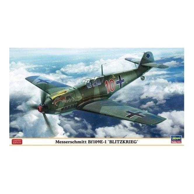 Hasegawa 1:48 Messerschmitt Bf109-E1 'Blitzkrieg' Aircraft Model Kit