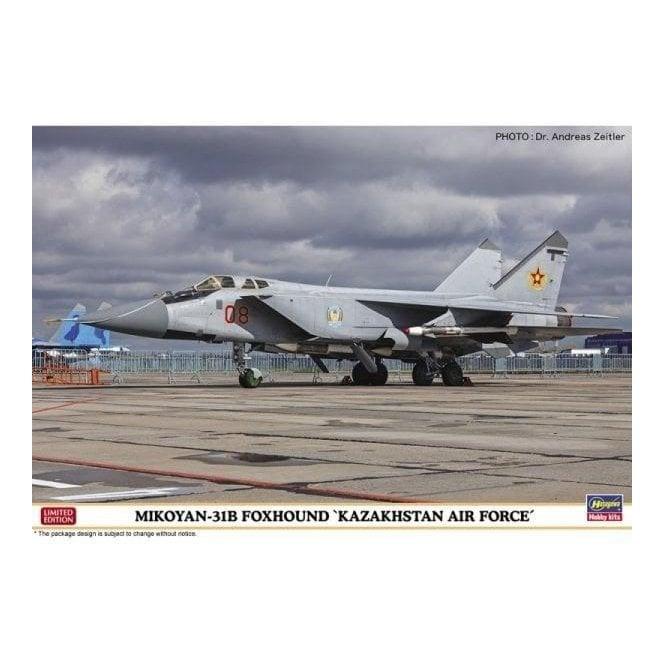 Hasegawa 1:72 Mikoyan-31B Foxhound Kazakhstan Air Force Aircraft Model Kit
