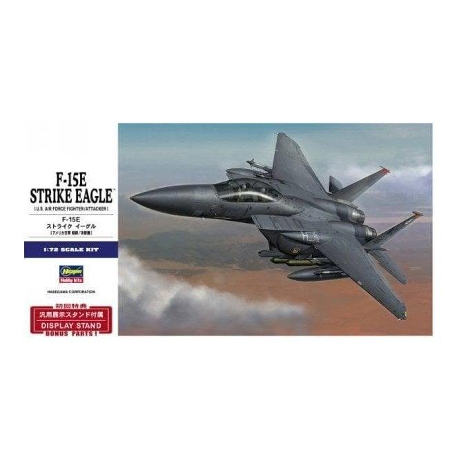 Hasegawa 1:72 F-15E Strike Eagle Aircraft Model Kit