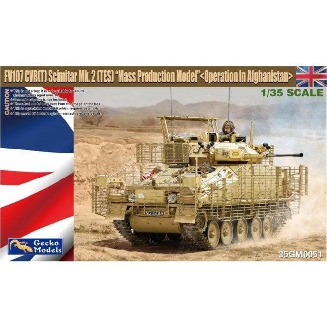 Gecko Models 1:35 CVR(T) Scimitar Mk.2 (TES) ' Mass Prod. Model ' Operation in Afghanistan Military Model Kit