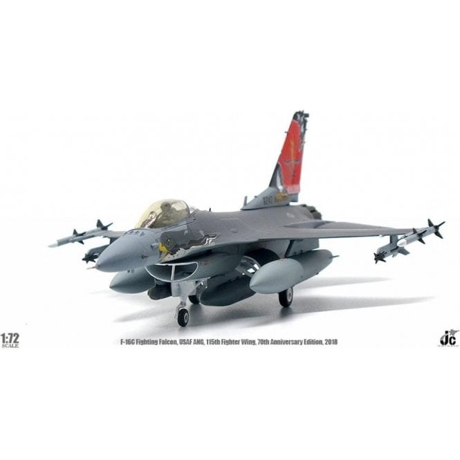 JC Wings 1:72 F-16C Fighting Falcon USAF, Wisconsin ANG, 115th Fighter Wing, 70th Anniversary Edition, 2018
