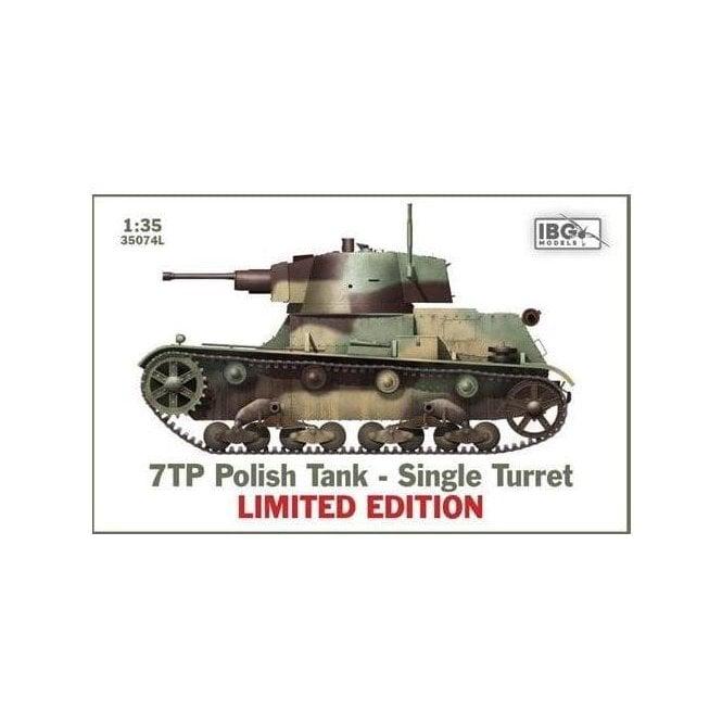 IBG 1:35 7TP Polish Tank - Single Turret LIMITED EDITION Military Model Kit