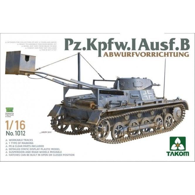 Takom 1:16 Pz.Kpfw.I Ausf.B with drop device Model Military Kit