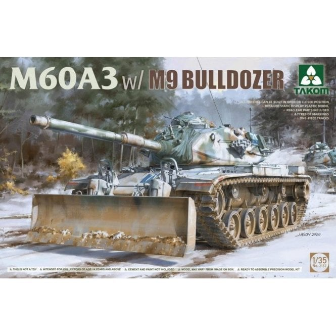 Takom 1:35 M60A3 w/ M9 Bulldozer attachment Model Military Kit