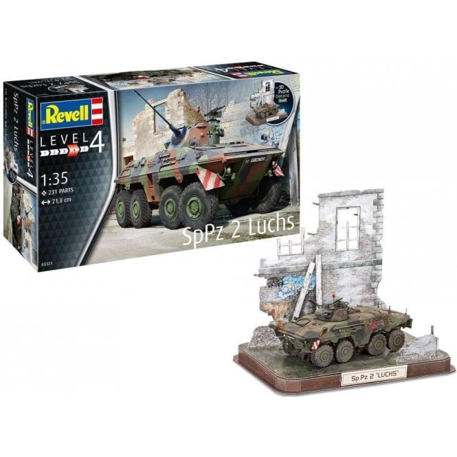 Revell 1:35 SpPz2 Luchs & 3D Puzzle Diorama Military Model Kit