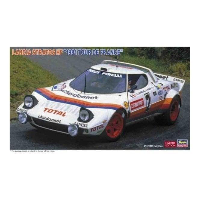 Hasegawa 1:24 Lancia Startos HF - 1981 Tour De France Car Model Kit