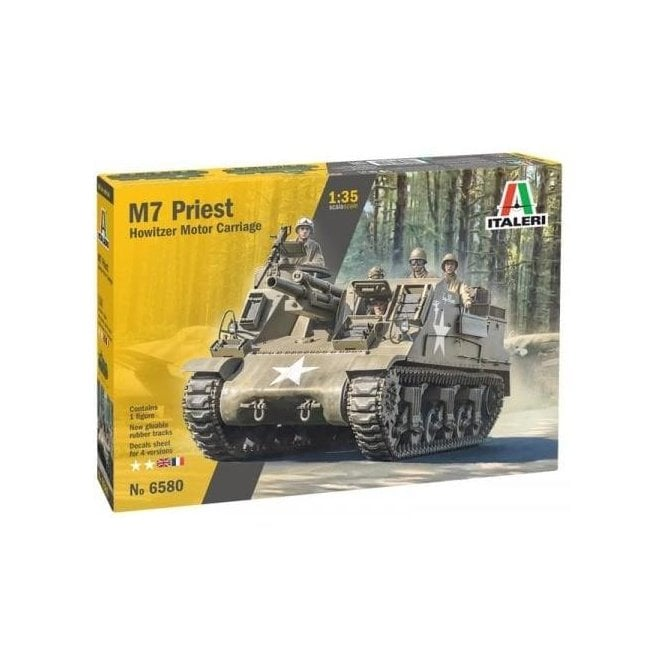 Italeri 1:35 M7 Priest Self-Propelled Howitzer Military Model Kit