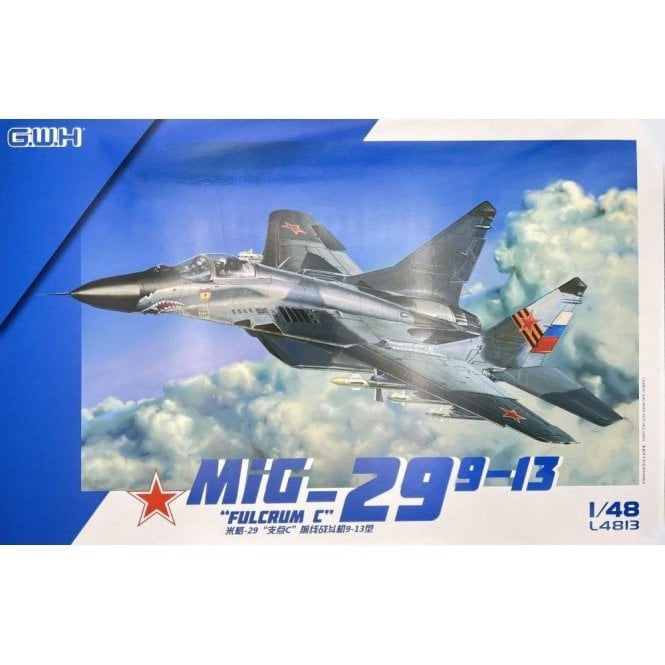 "Great Wall Hobby 1:48 MIG-29 9-13 ""Fulcrum C"" Russian Airforce Aircraft Model Kit"