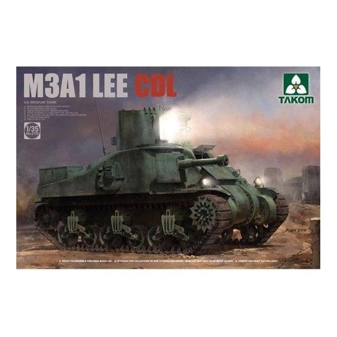 Takom 1:35 M3A1 Lee CDL US Medium Tank Model Military Kit