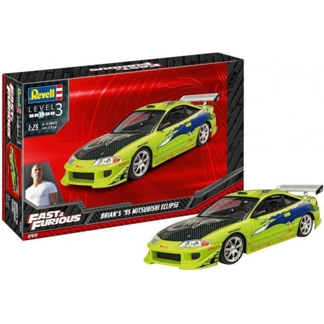 Revell 1:25 Brian's 1995 Mitsubishi Eclipse (Fast & Furious) Car Model Kit