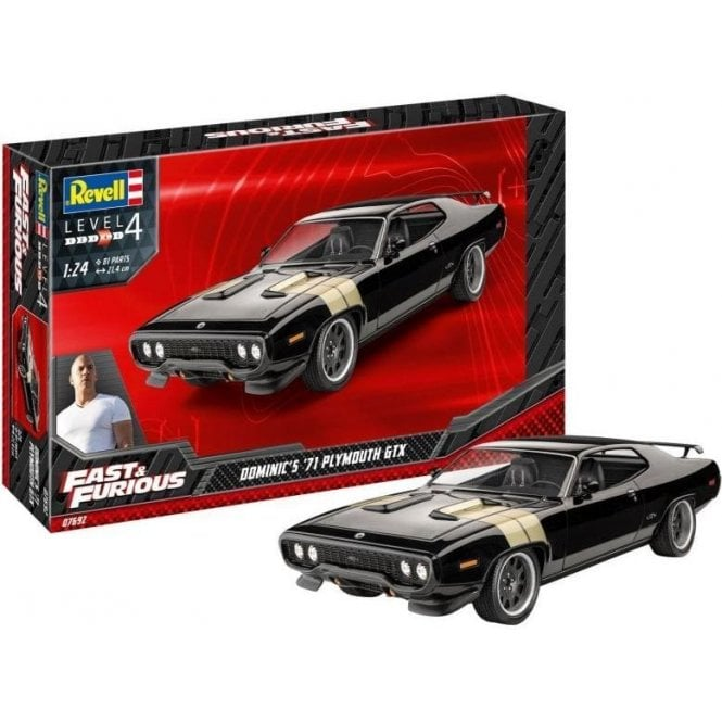 Revell 1:24 Dominic's 1971 Plymouth GTX (Fast & Furious) Car Model Kit