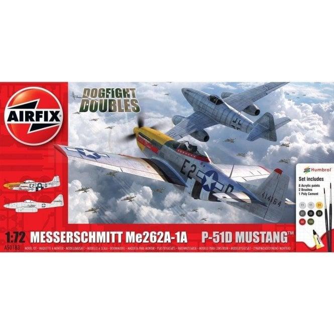 Airfix 1:72 Messerschmitt Me262 & P-51D Mustang Dogfight Double Model Kit