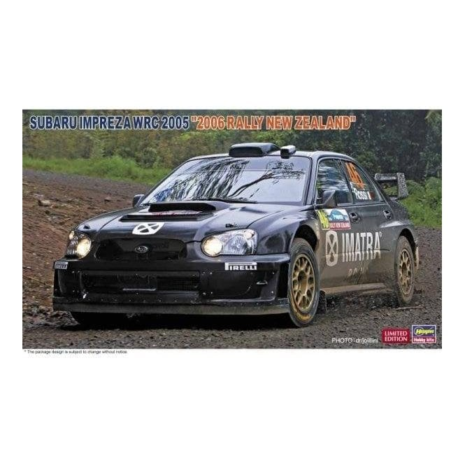 Hasegawa 1:24 Subaru Impreza WRC 2005 Valentino Rossi 2006 Rally New Zealand Car Model Kit