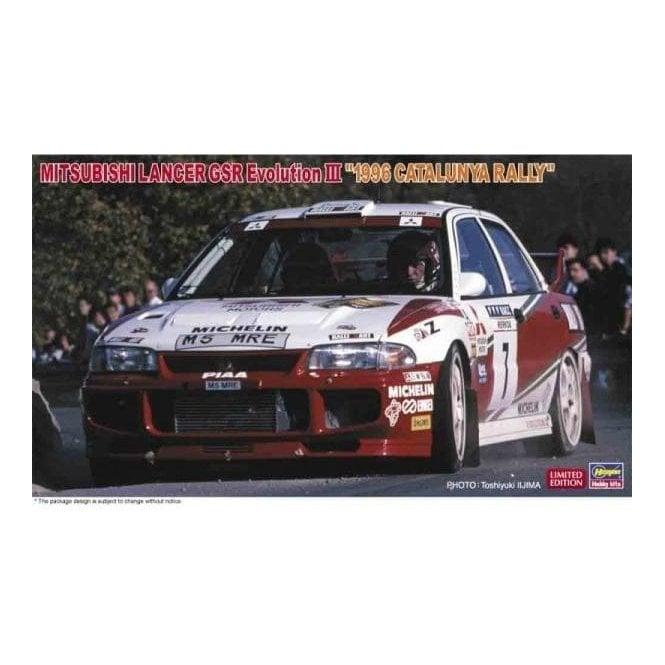 Hasegawa 1:24 Mitsubishi Lancer Gsr Evolution III 1996 Catalunya Rally Car Model Kit