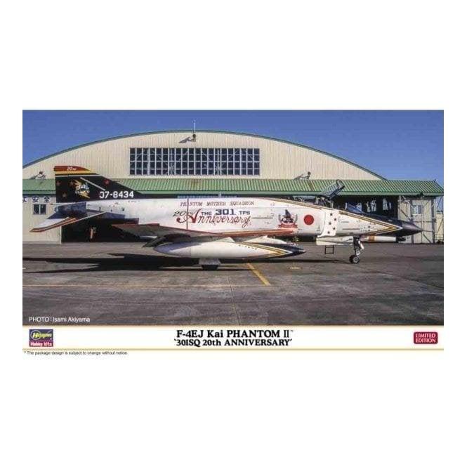 Hasegawa 1:72 F-4EJ KAI Phantom II - 301Sq 20th Anniversary Aircraft Model Kit