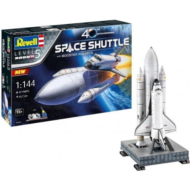 Revell 1:144 Gift Set Space Shuttle & Boosters 40th Anniversary Model Kit