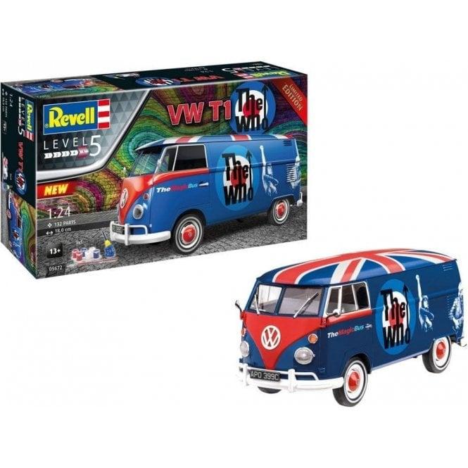 """Revell 1:24 Gift Set - VW T1 """" The Who """" Car Model Kit"""