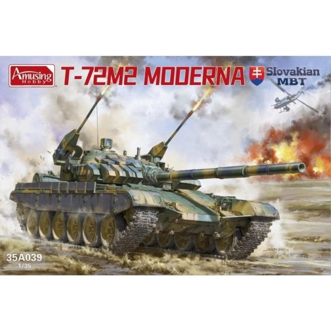 Amusing Hobby 1:35 T-72M2 Moderna Slovak MBT Military Model Kit