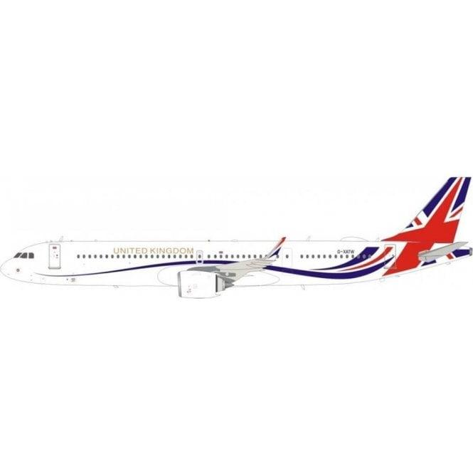 InFlight 200 Airbus A321neo Titan Airways / United Kingdom Reg - G-XATW - 1:200 Scale